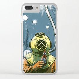 Beer Diver Clear iPhone Case