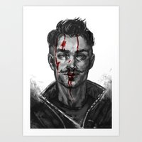 dragon age Art Prints featuring Dragon Age - Dorian by eristhenat