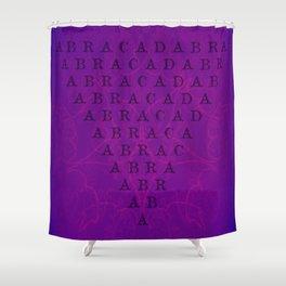 Abracadabra Reversed Pyramid in Violets Shower Curtain