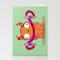 icecream Stationery Cards featuring Icecream monster by Maria Jose Da Luz