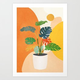 Colorful Branching Out 03 Art Print