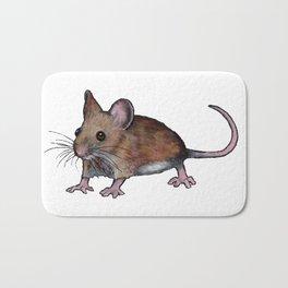 Brown Mouse, Oil Pastel Art, Little Critter Bath Mat