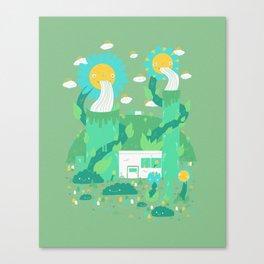 Flower power plant Canvas Print