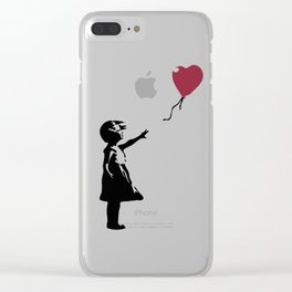 Girl With Red Balloon, Banksy, Streetart Street Art, Grafitti, Artwork, Design For Men, Women, Kids Clear iPhone Case