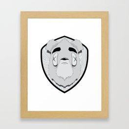 Dead Bear Framed Art Print