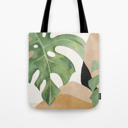 Abstract Art Tropical Leaves 3 Tote Bag