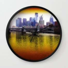 Philly Reflects Wall Clock