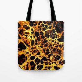Golden cells Tote Bag