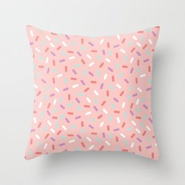 Pink Sprinkle Confetti Pattern Throw Pillow