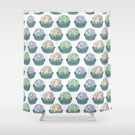Candy chocolate truffles sketch Shower Curtain