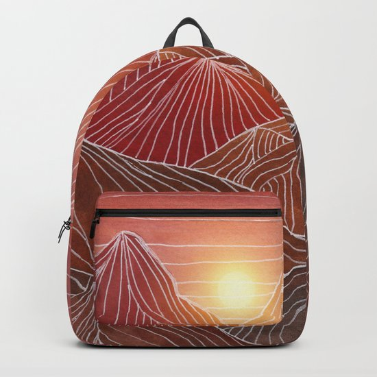 Lines in the mountains VI Backpack