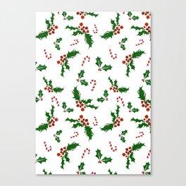 Christmas Holly Canvas Print