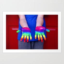 Rainbow Hands Art Print