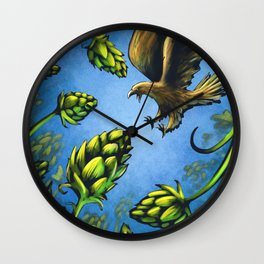 Screaming Eagle and Raging Hops (Cool) Wall Clock