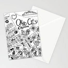 Ohio City Map Stationery Cards