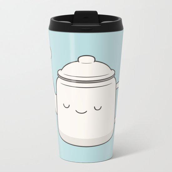 Teapot Metal Travel Mug