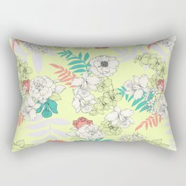 Sweet Floral Rectangular Pillow