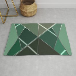 Mosaic tiled glass with a laser show Rug