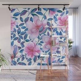 Romantic magnolia flowers Wall Mural