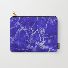 Cobalt Marble Carry-All Pouch