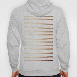 Simply Drawn Stripes Deep Bronze Amber Hoody