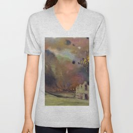 Felix Edouard Vallotton - War - Digital Remastered Edition Unisex V-Neck
