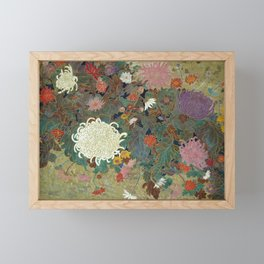 flower【Japanese painting】 Framed Mini Art Print