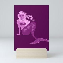 Sitting Mermaid Mini Art Print
