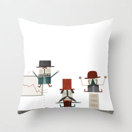 Quiet in the office Throw Pillow