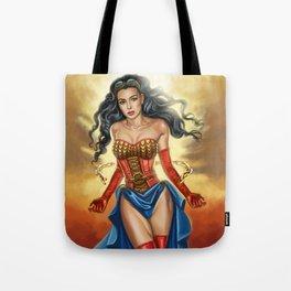 Steampunk WonderWoman Tote Bag