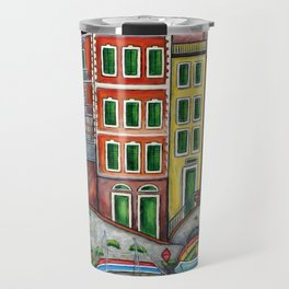 Colours of Riomaggiore Travel Mug