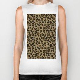 Leopard Print Pattern Biker Tank