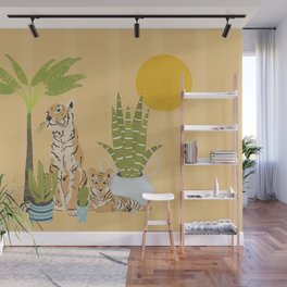 My Urban Jungle Pet Tigers Wall Mural