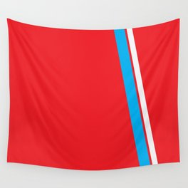 Red Slant Wall Tapestry