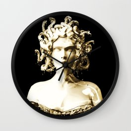 Gold Medusa Wall Clock