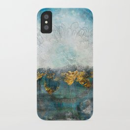 Lapis - Contemporary Abstract Textured Floral iPhone Case