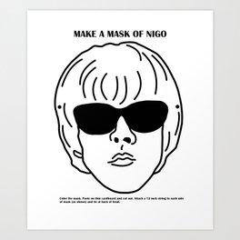 Make a mask of Nigo Art Print