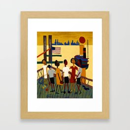 African American Masterpiece 'Ferry' NYC by William Johnson Framed Art Print