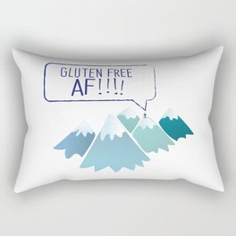 Gluten-Free AF Mountain Top Rectangular Pillow