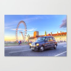 Westminster Bridge And The London Eye Canvas Print
