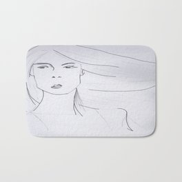 Girl of Air Bath Mat