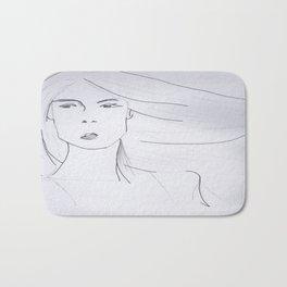 Girl of Air Bath Mat