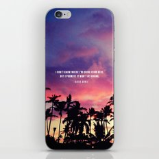 1980's sunset and quote iPhone & iPod Skin