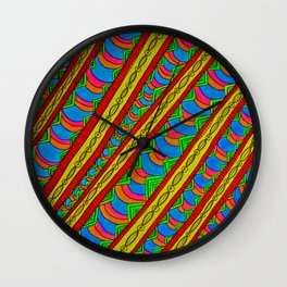 Color in Motion Wall Clock