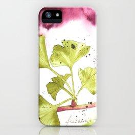 Ginkgo Branch iPhone Case
