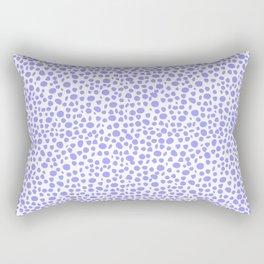 Small Random Dots Salmon BLUE Rectangular Pillow