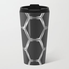 Gray and silver octagon pattern Travel Mug