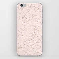 Dotted Gold & Pink iPhone Skin