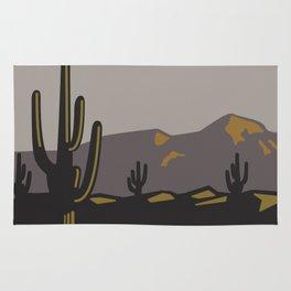 Saguaros at Sunset Rug