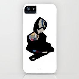 Sitting figure iPhone Case